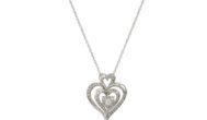 10k Gold Diamond Heart Pendant Necklace