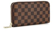Daisy Rose Women's Checkered Zip Around Wallet