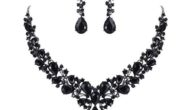 Women's Wedding Bridal Austrian Crystal Necklace Dangle Earrings Set