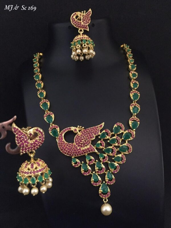 Fancy Peacock Necklace Set MJ SC169 (1)