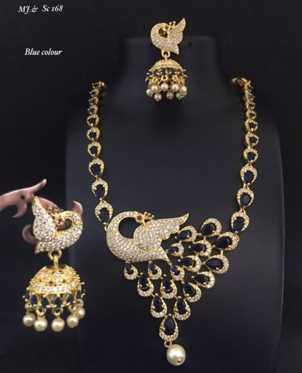 Fancy Peacock Necklace Set MJ SC169 (3)