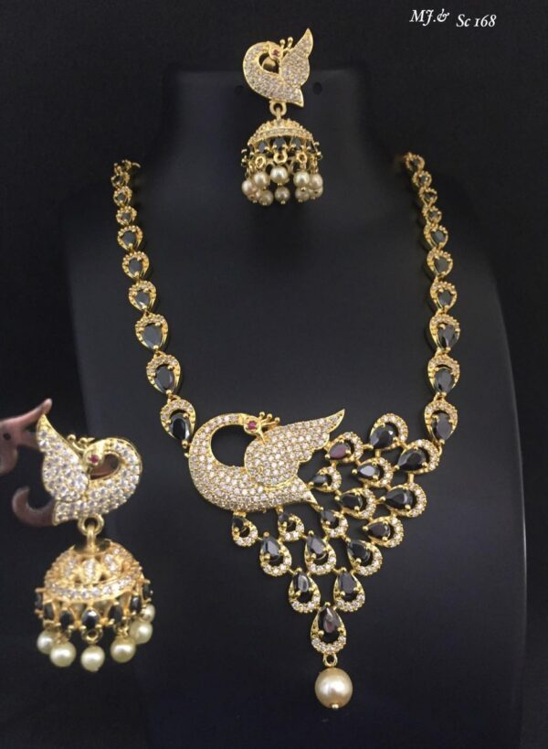 Fancy Peacock Necklace Set MJ SC169 (4)