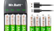 Mr.Batt Rechargeable AA Batteries with Charger
