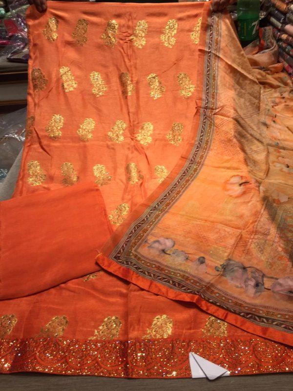 Shirt fabric pure opada banarsi silk