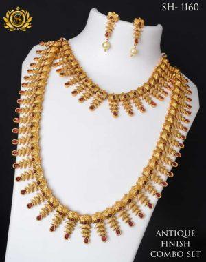 Antique Finishing Necklace Combo Set