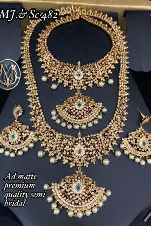 High Quality AD Semi Bridal Jewellery For Wedding