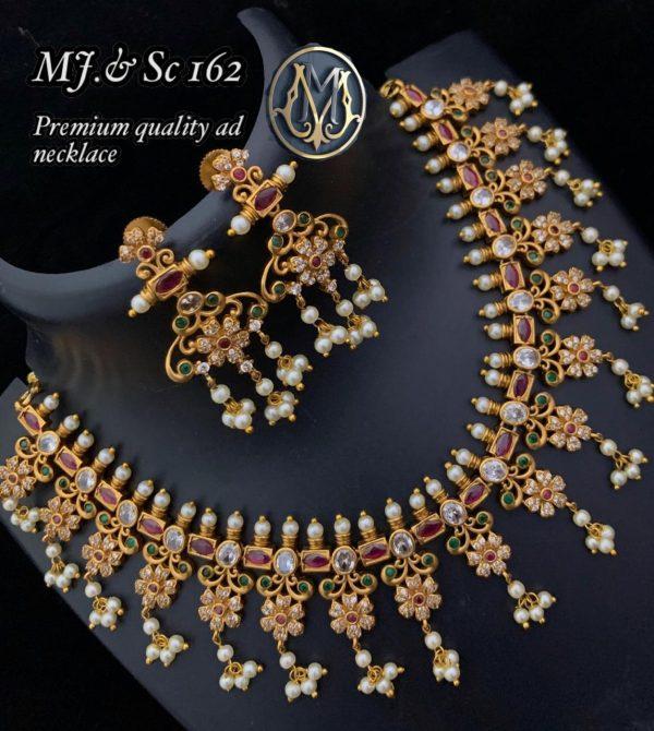 Premium Quality AD Pearl Necklace SC162