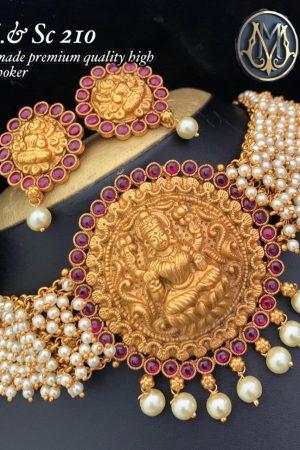 Premium Quality High Raise Chocker with Pearls MJ210