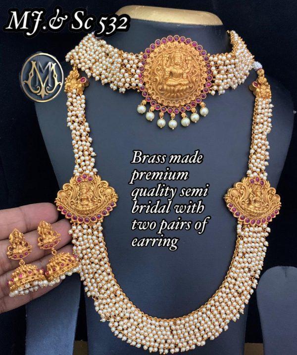Premium Quality Semi Bridal with Pearls MJ532