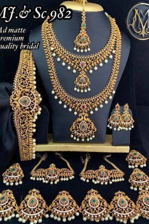Ad matte Premium Quality indian bridal jewellery