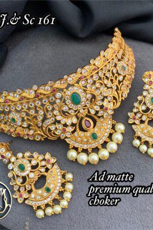 Premium Quality Ad stone indian chocker jewellery