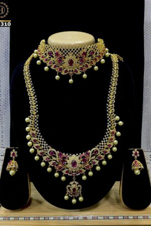 Premium Quality India Long Necklace With Chocker Combo