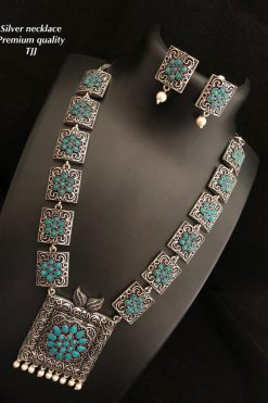 Premium Quality German Oxidised Long Necklace