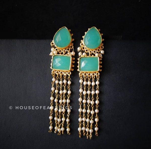 Pearls drop hanging earrings
