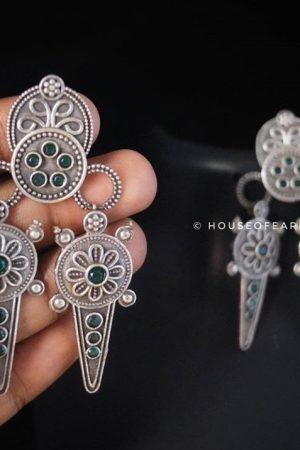 Beautiful oxidised chambali earring