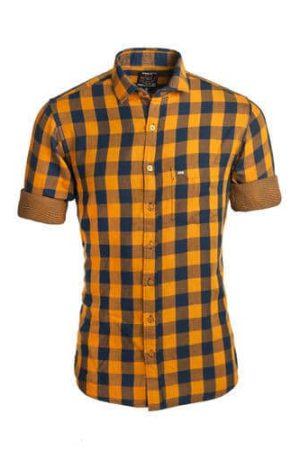 Checked Cotton Men Casual Shirt
