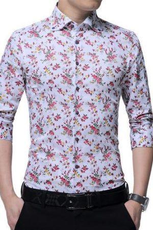 YSF Full Sleeve Regular Fit Men's Linen Printed Shirt