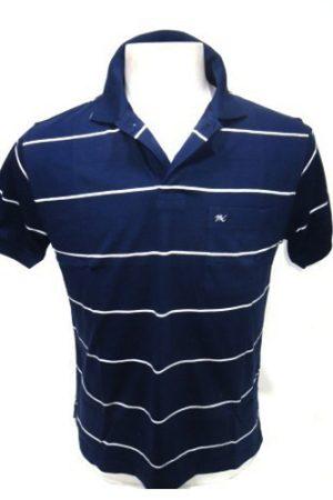 Punit Polyfab Half Sleeve Blue,White Polo Mens T-Shirt