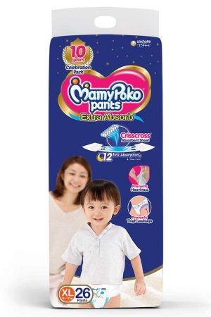 MamyPoko Extra Absorb Diaper Pants, Extra Large