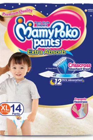 MamyPoko Standard Diaper Pants, XLarge (Pack of 14)