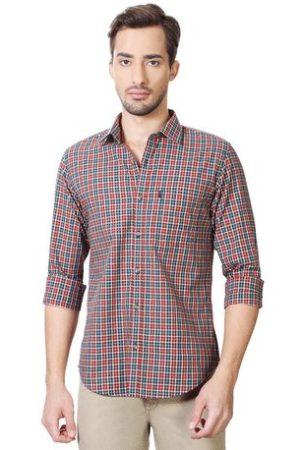 Peter England Men's Casual Multicoloured Shirt