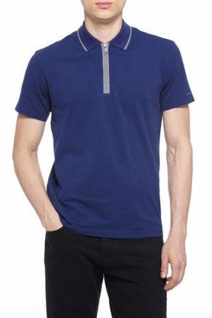 USHA CREATION Mens Casual Collar Plain Blue T Shirt