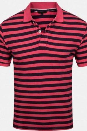 USHA CREATIONS Mens Hosiery Red & Black Collar T Shirts