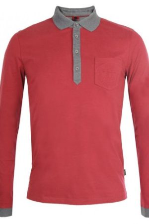 USHA CREATIONS Red Casual Collar Full Sleeves T Shirts