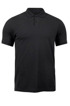 YNT Store Plain Black Polo Neck T Shirt
