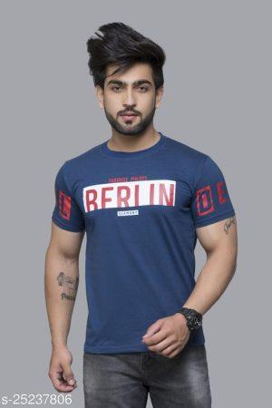 Round neck printed Men's T-shirt