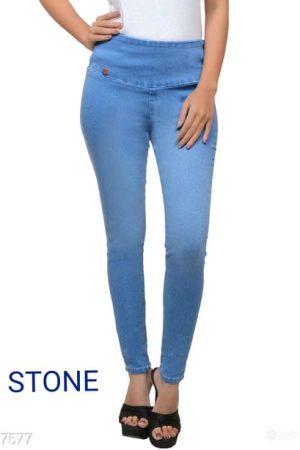 Stylish Solid Denim Jeans