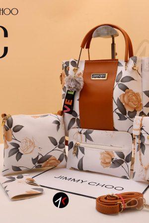 JIMMY CHOO Hand Bags for Women 5 Pc Combo