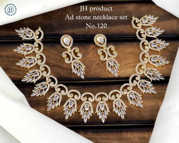 AD Stone Necklace Set Premium Collection