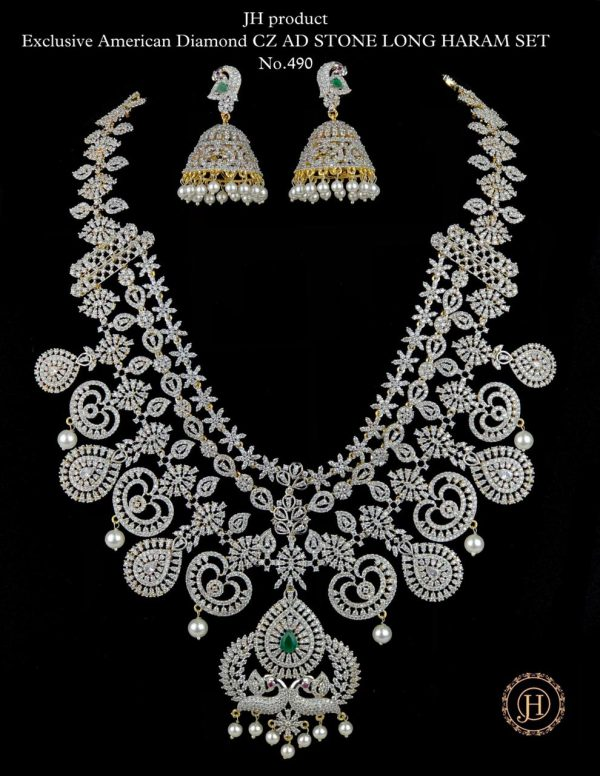 Exclusive American Diamond CZ Long Haram Collection