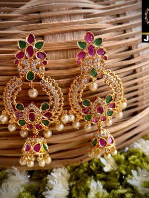 Gold Plated Jumka Earrings