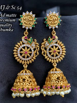 AD Matee Premium Quality Bridal Jhumka Earring MN54