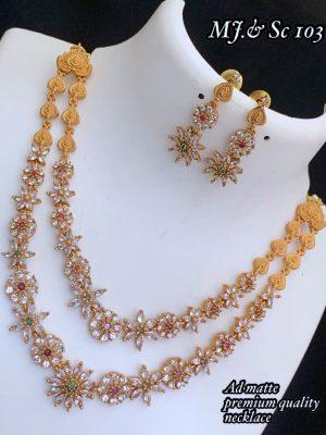 AD Matte Premium Quality Necklace MN103