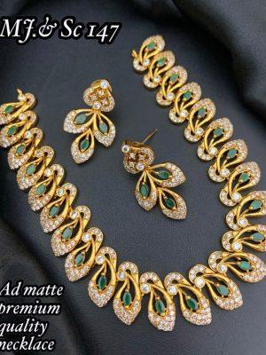 AD Matte Premium Quality Necklace Set MN147 (2)
