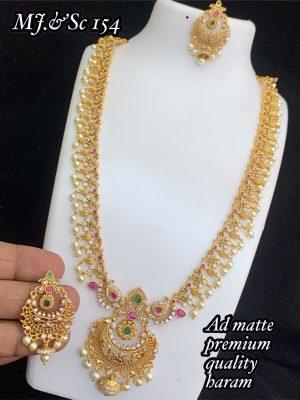 AD Matte Premium Quality Semi Bridal Set MN154