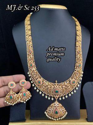 AD Matte Premium Quality Semi Bridal Set MN253 (1)