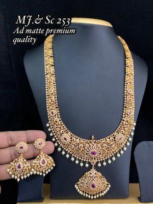 AD Matte Premium Quality Semi Bridal Set MN253 (2)