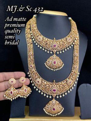 AD Matte Premium Quality Semi Bridal Set MN432