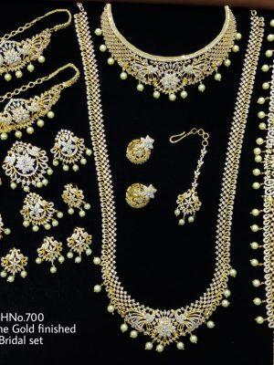 AD Stone Gold Finished Bridal Set (1)