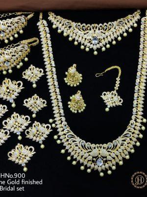 AD Stone Gold Finished Bridal Set (7)