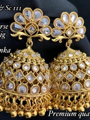 AD Stone Jhumka Earrings MN111 (1)