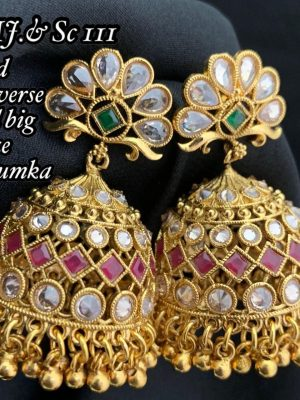 AD Stone Jhumka Earrings MN111 (2)