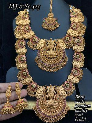 Brass Made Premium Quality Semi Bridal Set MN425