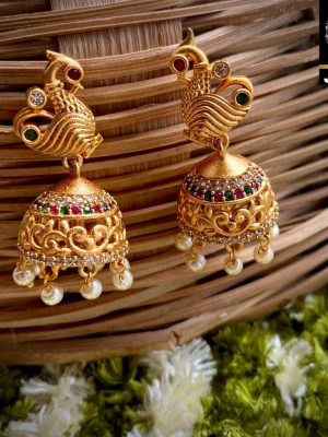Brass Jhumka Earring