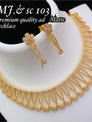 Diamond Design Premium Quality AD Matte Necklace MN103 (6)
