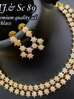 Diamond Design Premium Quality AD Matte Necklace MN89